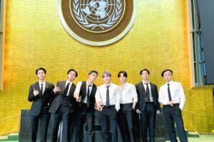 """O grupo sul-coreano lançou uma performance especial da música """"Permission to Dance"""", filmada na sede da ONU"""