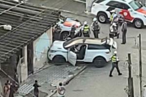 A colisão ocorreu no bairro Aviação, em Praia Grande