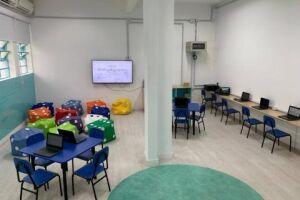 Vinte e quatro unidades receberam adequações civis em salas para a implantação de tecnologiasna forma de ensino