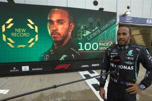 Hamilton terminou o GP da Rússia em 1º e alcançou a sua centésima vitória na F1