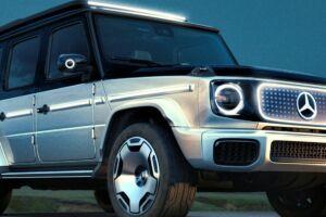 """O conceito EQG mantém as linhas retas características do """"jipão"""" da Mercedes, acrescentando elementos herdados dos outros elétricos da marca alemã."""