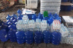Homem roubava galões de água e outras bebidas para vender em seu comércio