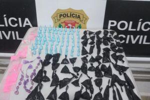 Polícia prende homem em flagrante por comércio de drogas ilícitas no bairro Humaitá, em São Vicente