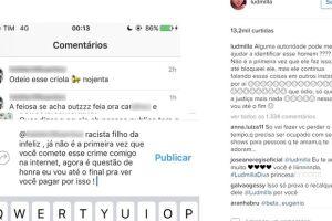 Ludmilla foi alvo de racismo na internet
