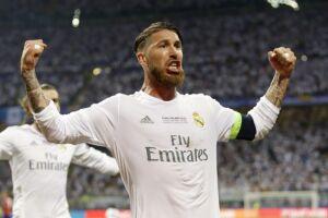 Sergio Ramos marcou o gol que abriu placar para o Real no tempo normal