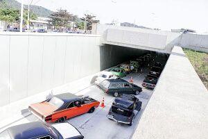 Viaduto do Sol já estava aberto para o trânsito e deveria ter sido inaugurado no último dia 1º, porém, cerimônia com presença do governador só aconteceu ontem