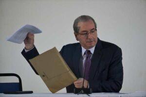 Durante a coletiva, Eduardo Cunha afirmou que o encontro teve por objetivo retomar a comunicação direta com os veículos de comunicação