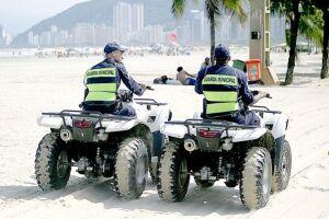 O contrato de locação de veículos leves, como quadriciclos (foto), usados pela Guarda Municipal para fiscalizar a orla do Município está na mira do Ministério Público