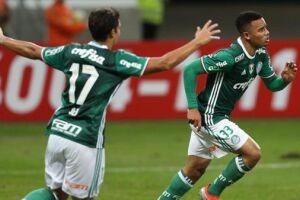 Com dois gols do atacante Gabriel Jesus ainda no primeiro tempo, o Palmeiras derrotou o América-MG por 2 a 0