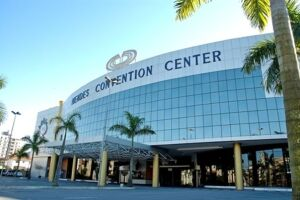 O Mendes Convention Center fica na Av. General Francisco Glicério, 206, na Vila Mathias, em Santos