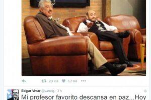 Amigo de Rubém Aguirre, Edgar Vivar comunicou o falecimento do ator no Twitter