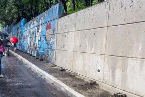 A Justiça paulista determinou que a prefeitura pare de remover as pinturas em forma de grafite