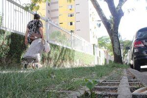 Medrado alega que Prefeitura descobriu que calçadas com grama dariam muita manutenção. No Jaú, virou mato