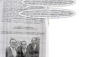 Panfleto com foto, logotipo da Assembleia e pedido de votos seria a principal prova contra o vereador Pereira
