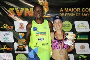 Campeões Rodrigo Santana e Jesiane Bezerra