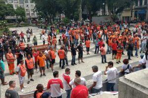 Trabalhadores portuários participaram de manifestação contra a reforma da Previdência