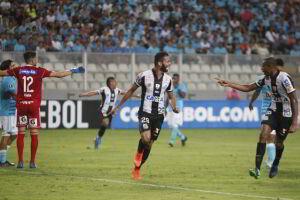 Thiago Maia marcou após passe de Lucas Lima