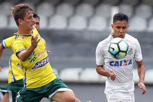 O time sub-20 do Santos foi eliminado da Copa do Brasil