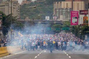 POs protestos de ontem foram registrados em Caracas e em 14 estados da Venezuela