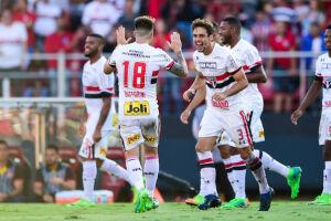 O São Paulo encaminhou a sua classificação às semifinais do Campeonato Paulista