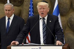 Trump se ofereceu novamente para mediar um acordo definitivo de paz entre Israel e Palestina durante visita à Cisjordânia