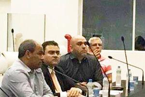 O secretário Benzi esteve na Câmara ontem para depor sobre denúncia envolvendo Aerporto acompanhado de Gustavo Rondini e o advogado Marcelo Tadeu Nascimento