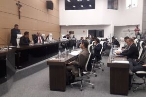 Quinze vereadores votaram pelo fim do voto secreto. Ronald Nicolaci faltou e Edilson Dias só votaria se empatesse