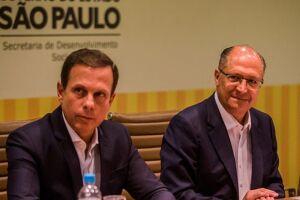 joão Doria e Geraldo Alckmin disseram ser cedo para falar sobre a  gravação que implicaria Temer
