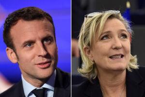 Marine Le Pen e Emmanuel Macron são os candidatos a presidente na França