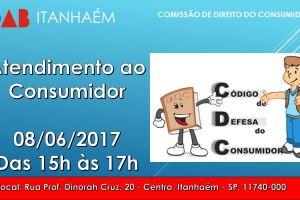 A OAB Itanhaém irá realizar atendimento ao público consumidor