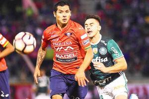 O Palmeiras entrou em campo com a escalação modificada, mas sem alterações táticas
