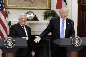No encontro com Abbas, Trump se ofereceu para ser o 'facilitador' de um acordo de paz entre israelenses e palestinos