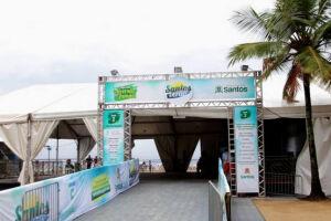 Tendas serão montadas na Praia de Santos
