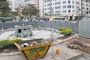 A estimativa é que a obra seja concluída em agosto; Prefeitura diz que projeto beneficiará turistas e moradores