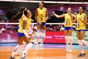 A seleção brasileira feminina de vôlei abriu a sua participação na segunda semana da fase de classificação do Grand Prix com vitória