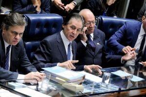 Jucá assumiu a relatoria das emendas em Plenário no lugar de Ricardo Ferraço, que havia sido escolhido pelo presidente Eunício Oliveira, mas estava ausente