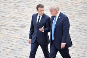 Macron e Trump conversaram sobre mudanças climáticas, comércio e segurança