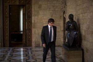 Puigdemont insistiu que seguirá trabalhando pelo pacifismo