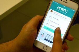 O acesso ao cartão de confirmação de inscrição pode ser feito pelo aplicativo do Enem e também pela Página do Participante na internet
