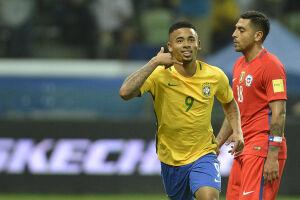 Gabriel Jesus terminou como artilheiro do Brasil nas Eliminatórias