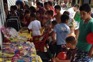 Imagem da última festa de Dia das Crianças promovida pelo projeto