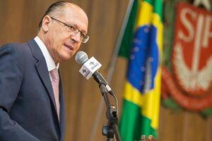 O governador de São Paulo, Geraldo Alckmin, não descartou a possibilidade de assumir a presidência do PSDB