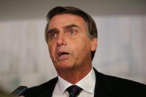 Bolsonaro foi questionado sobre a questão da segurança pública no Rio de Janeiro