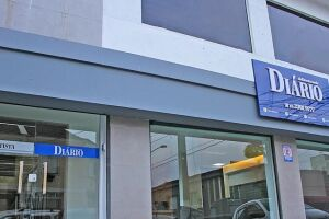 Fachada da nova sede da redação do Diário do Litoral, em Santos