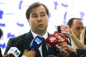 Rodrigo Maia recebeu as demandas dos policiais federais sobre a reforma da Previdência