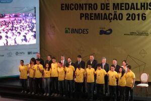 Entrega de medalhas da 12ª Olimpíada Brasileira de Matemática das Escolas Públicas (OBMEP), no Theatro Municipal do Rio de Janeiro