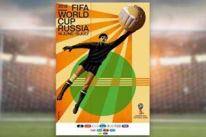 A Fifa apresentou o pôster oficial da Copa do Mundo de 2018, na Rússia