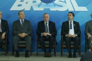 O presidente Michel Temer lança plataforma digital do Programa Emprega Brasil, no Palácio do Planalto