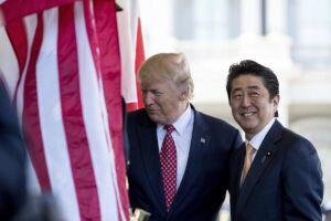 Trump terá encontro com o premiê Shinzo Abe