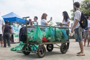 Foi a observação da grande quantidade deste tipo de resíduo que fez o instituto Mar Azul dar início ao Projeto Microlixo